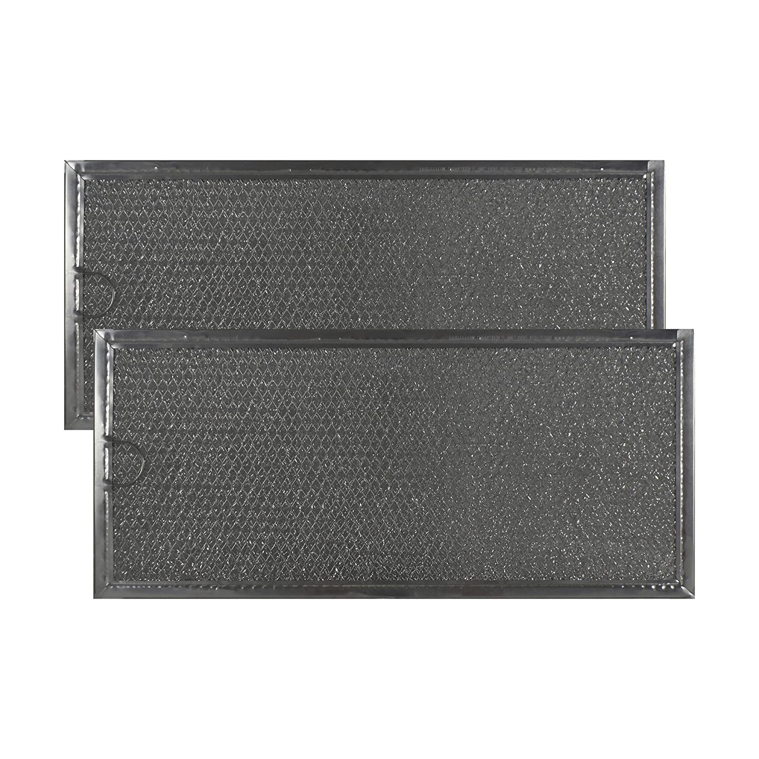 Air Filter Factory 2-PACK Compatible Replacement For Whirlpool AP4299743 Aluminum Grease Microwave Oven Filters