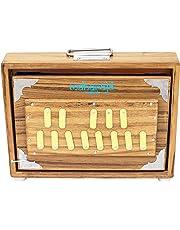 Shruti Box, Maharaja Musicals Surpeti - Teak Wood, 13 Drone Notes C-to-C Shruthi Indian Musical Instrument (PDI-ABC)