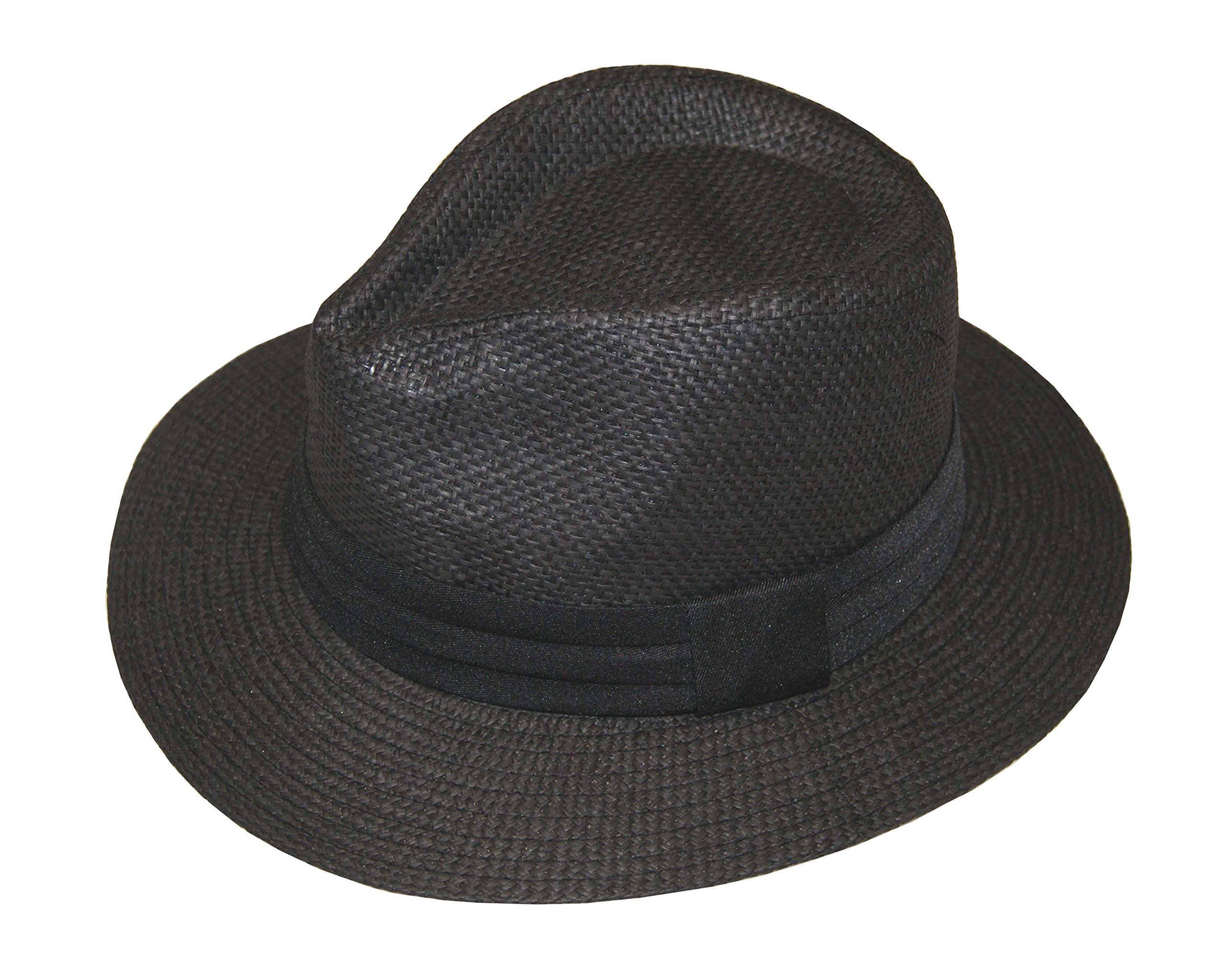 Fashion Man Summer Golf Sun Hat Panama Cap - Brand New (Black, 58cm) by Tamsmart (Image #1)