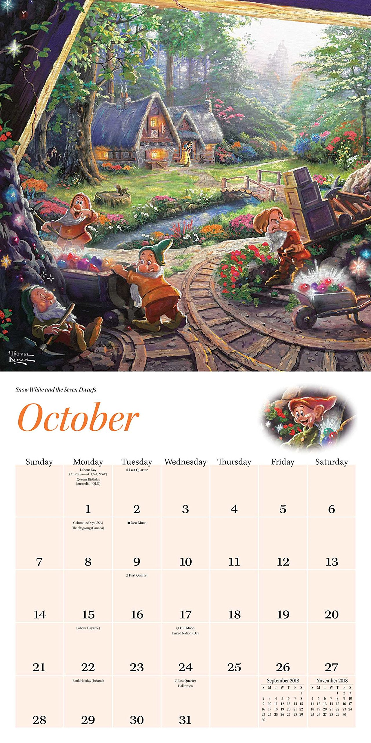 Amazon.com: Thomas Kinkade: The Disney Dreams Collection 2018 Wall Calendar  (0762042136917): Thomas Kinkade: Books