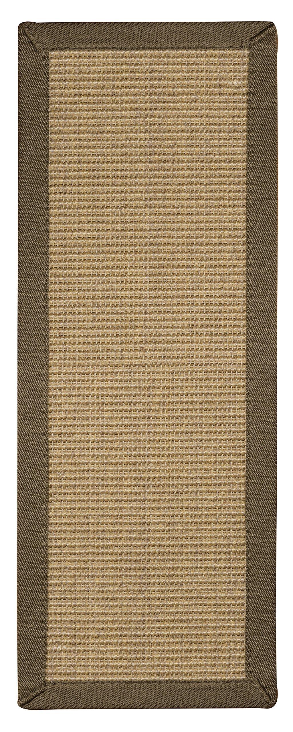 NaturalAreaRugs Kinsley Sisal Carpet Stair Treads, 9-Inch by 29-Inch, Khaki