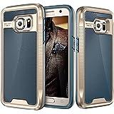 Galaxy S7 Case, E LV Galaxy S7 - Hybrid [Scratch/Dust Proof] Armor Defender Slim Shock-Absorption Bumper Case for Samsung Galaxy S7 - [DARK BLUE/GOLD]
