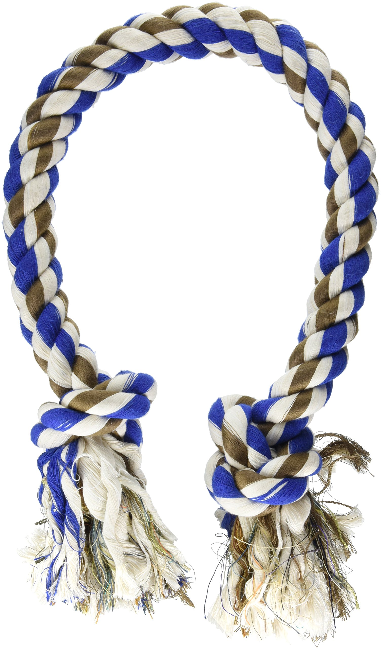 Mammoth Flossy Chews Colossal 42-Inch Cottonblend Color 2-Knot Rope Tug by Mammoth (Image #1)
