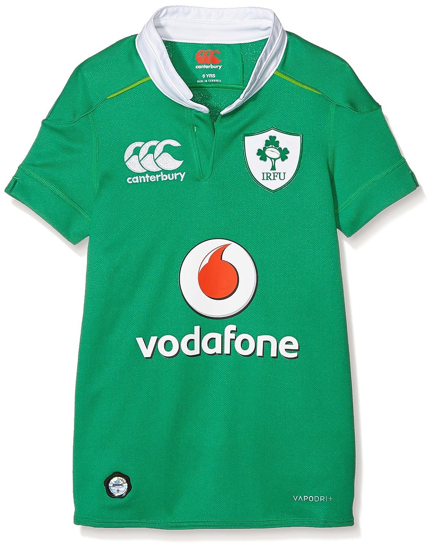 Canterbury Vapodri+ Home Pro Camiseta Unisex para Niños de Irlanda, Temporada 2016/2017, Verde Bósforo