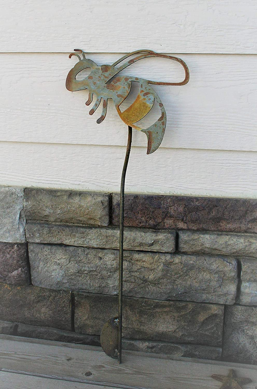 Rusted Metal Bee Garden Stake