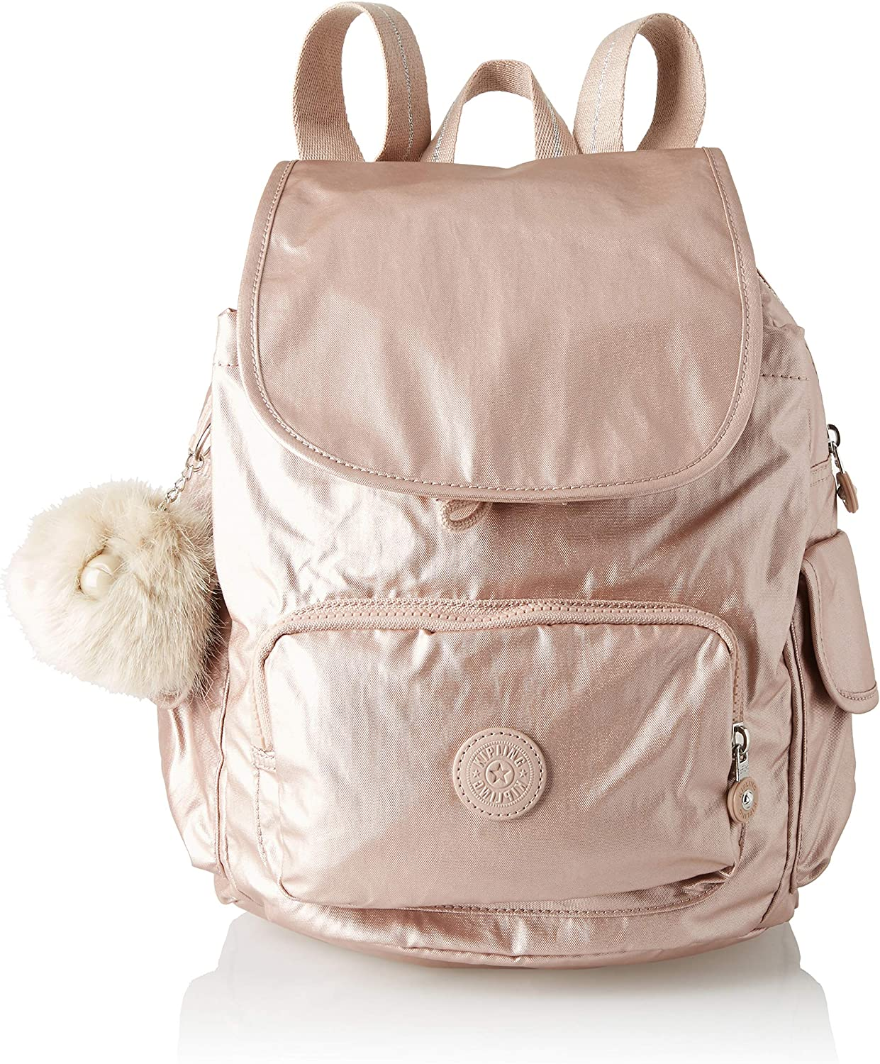 Kipling CITY PACK S Metallic Blush