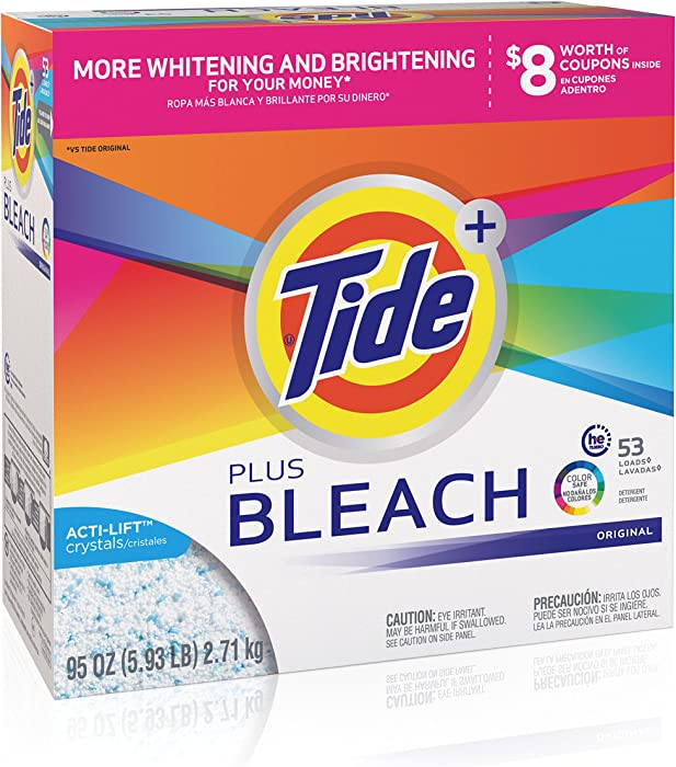 Tide Powder with Bleach, 53 Loads, 95 oz
