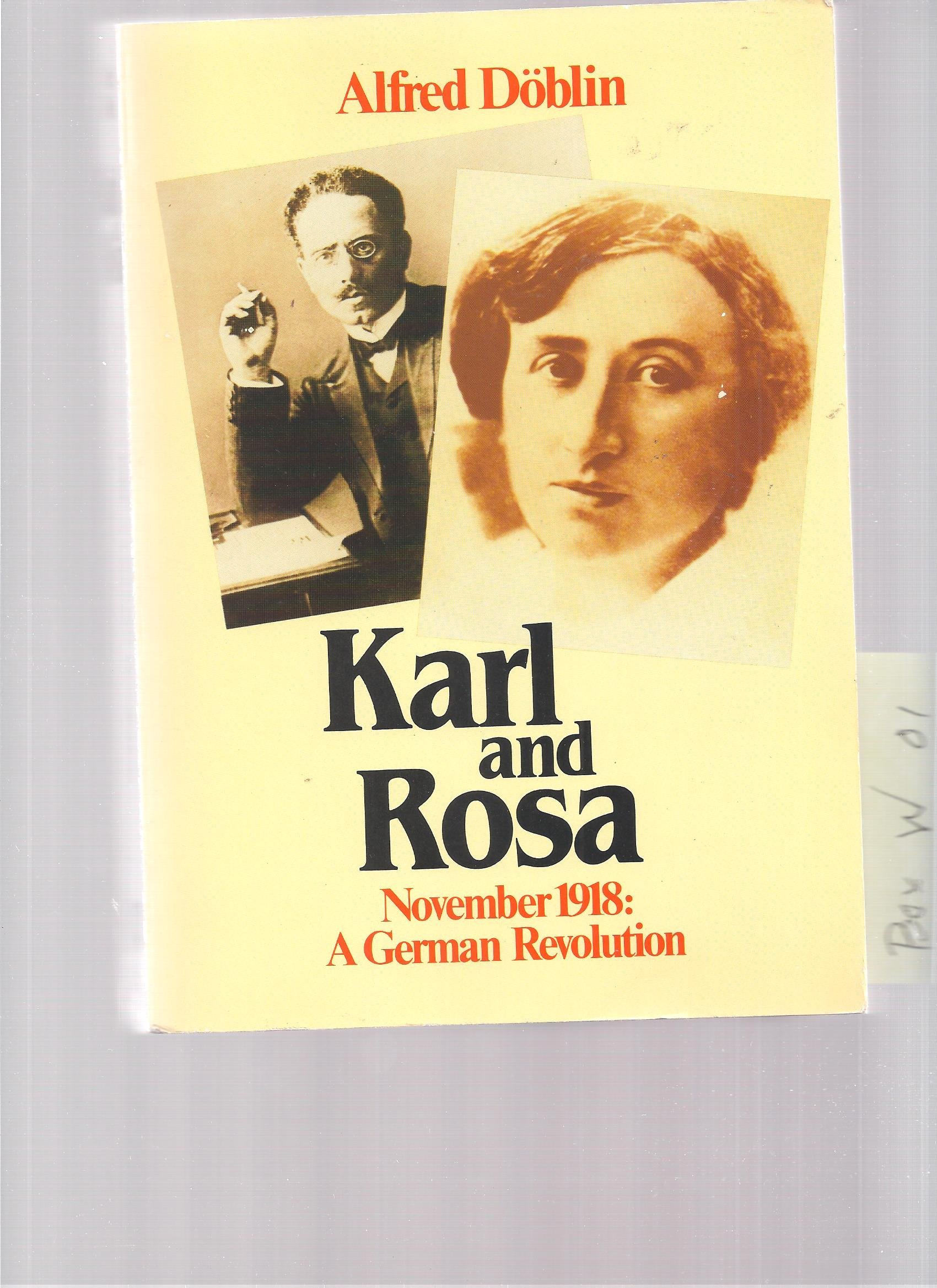 Karl and Rosa - November 1918: A German Revolution. Volume 3 (November  1918): Karl and Rosa Vol 3: Amazon.co.uk: Alfred Doblin, John E. Woods, J.  E. Woods: ...