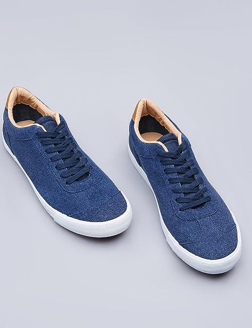Find Zapatillas Estilo Retro para Hombre, Azul (Navy), 43 EU