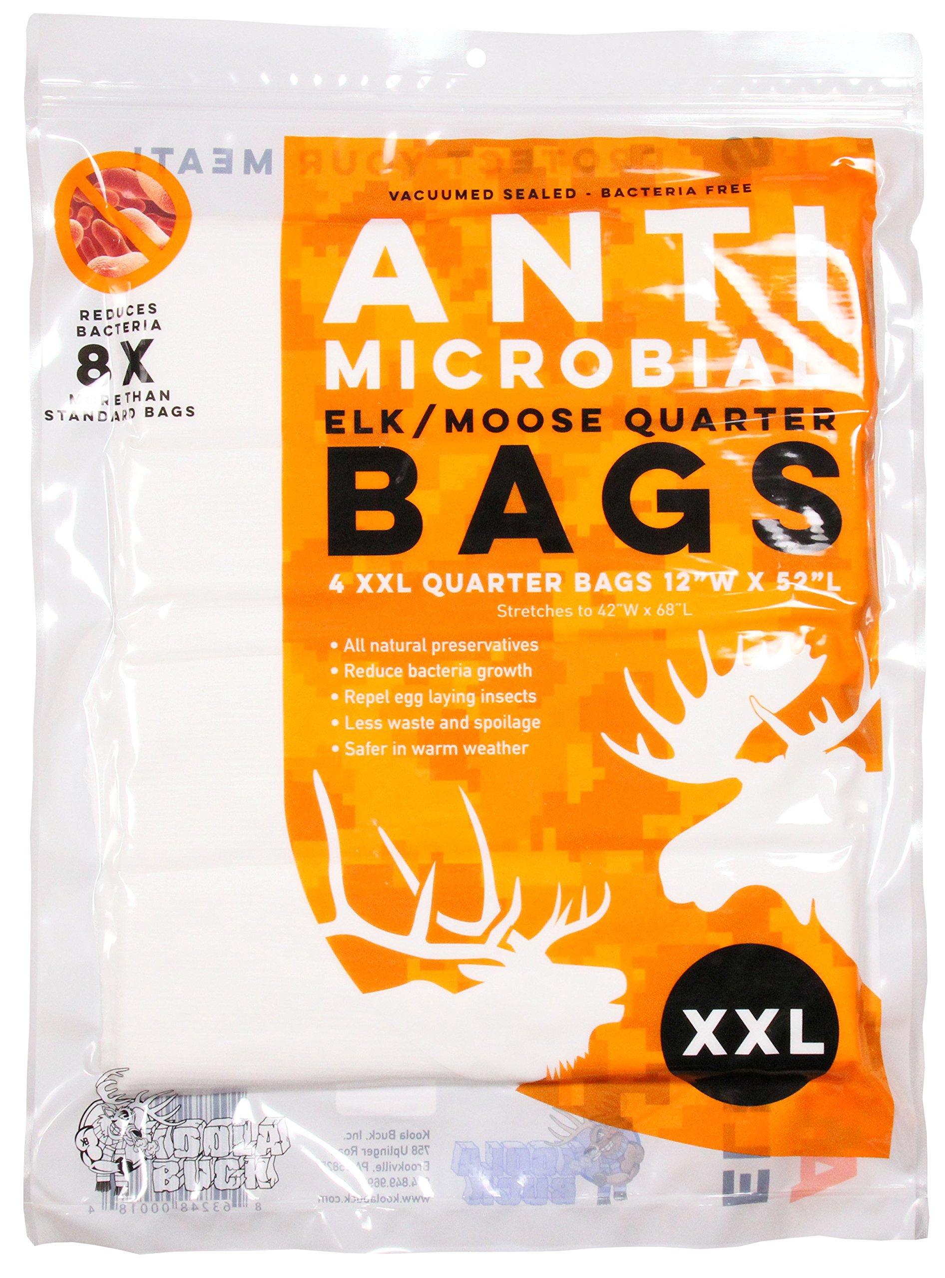 Koola Buck Antimicrobial Game Bags (Elk/Moose 4 Pack) by Koola Buck