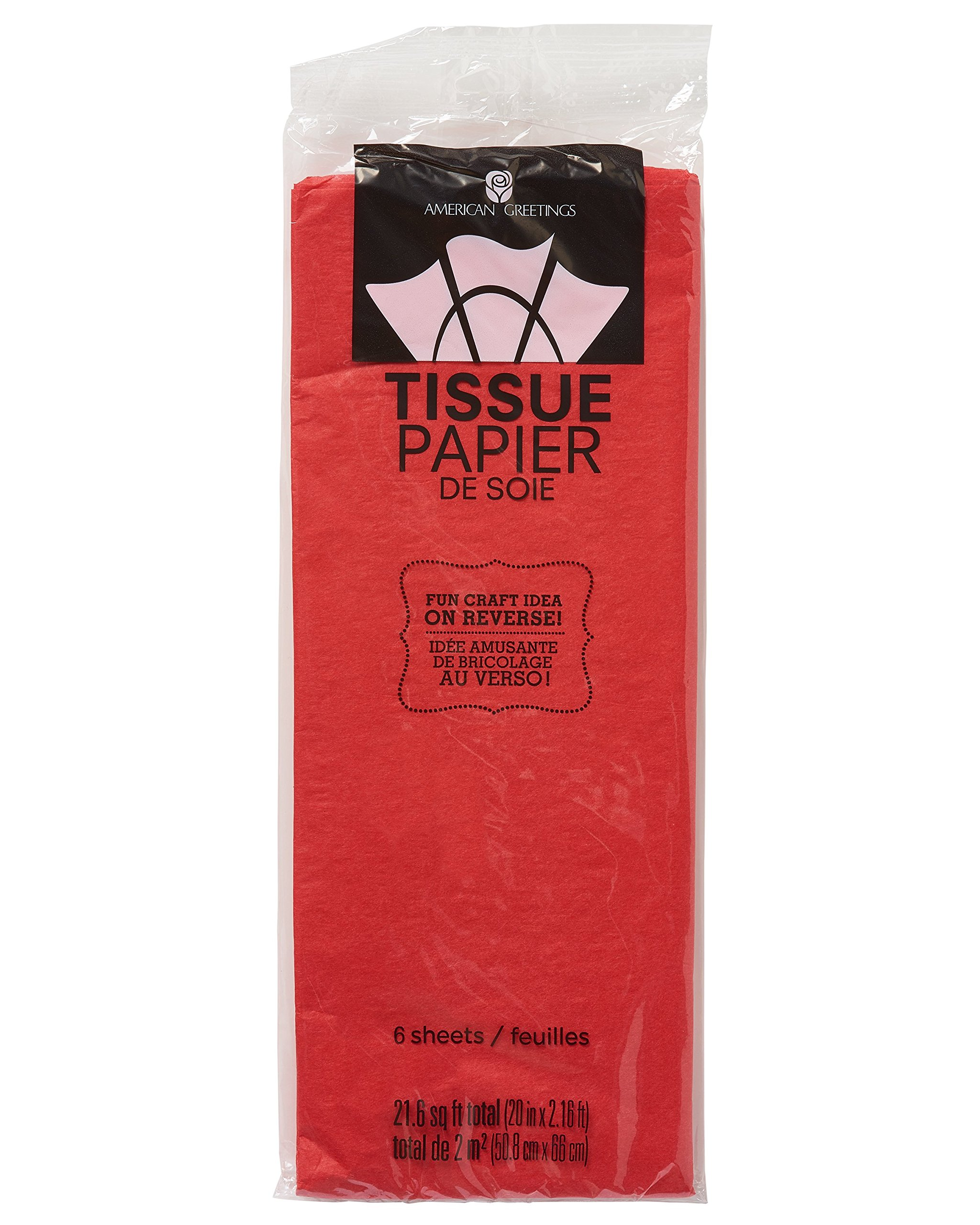 American Greetings Red Tissue Paper, 6-Sheets
