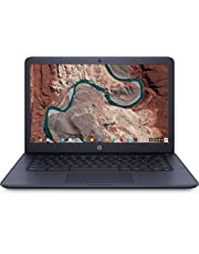 HP - Chromebook 14-db0003nf - PC Portable - 14'' Full HD IPS - Bleu foncé (AMD A6-9220, RAM 4 Go, eMMC 64 Go, AMD Radeon R4, Chrome OS) + AZERTY