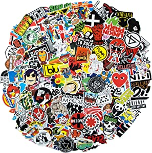 Cool Stickers Pack, 200PCS Band Stickers Waterproof Vinyl Stickers for Water Bottles Rock Punk Vintage Computer Stickers for Teens Skateboard Stickers Laptop Stickers Motorcycle Graffiti Decals