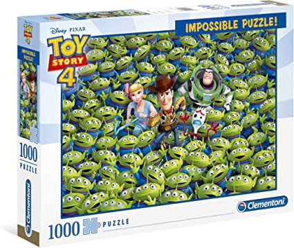 Clementoni- Puzzle 1000 Piezas Impossible Toy Story 4, Multicolor ...