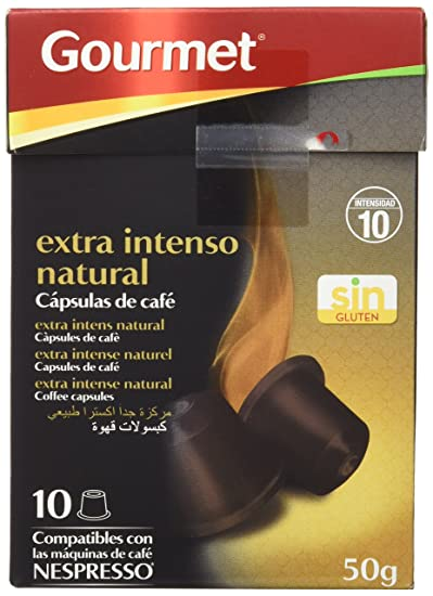 Gourmet - Extra intenso natural - Cápsulas de café compatibles con máquinas Nespresso - 10 unidades