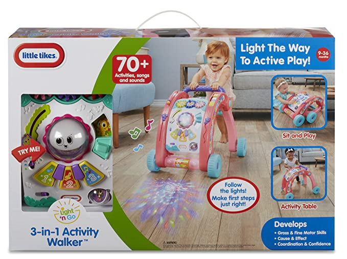 Little Tikes Light n Go 3-in-1 Activity Walker Multicolor ...