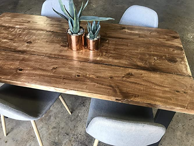 Amazoncom UMBUZÖ Reclaimed Wood Dining Table Handmade - Reclaimed hardwood dining table