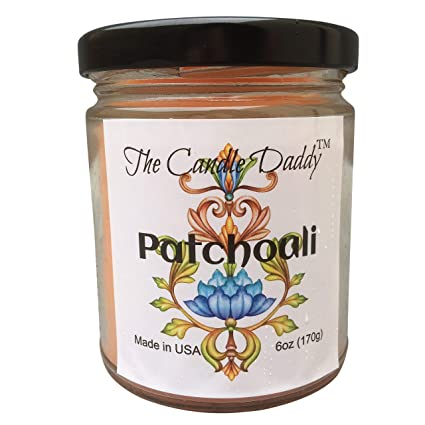 8b58dc11f761 Patchouli Scented Candle - 6 Ounce Jar Candle- Hand Poured in Indiana