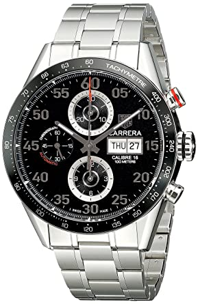 amazon com tag heuer men s cv2a10 ba0796 carrera automatic tag heuer men s cv2a10 ba0796 carrera automatic chronograph watch