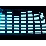 【ケーセブン】Kseven☆ カーフィルム サウンド連動 LED シート イコライザー ライトブルー 70x16 シガー ライター ソケット 対応 (ライトブルー)