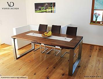 Esstisch Buche Massiv U0026quot;Londonu0026quot; 140 X 80 Cm, Designer Tisch  Massivholz Mit