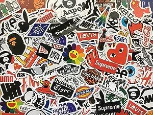 Lote de 50 pegatinas mini skate, anime, héroe, marcas, doodle ...