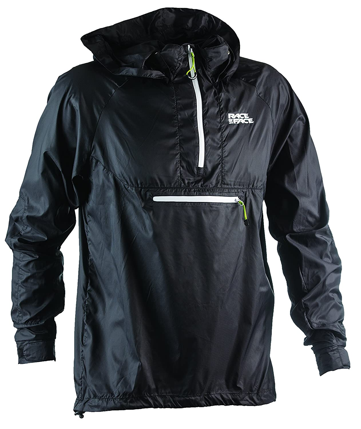 Race Face Nano Packable Jacket, Black, Medium KA440003