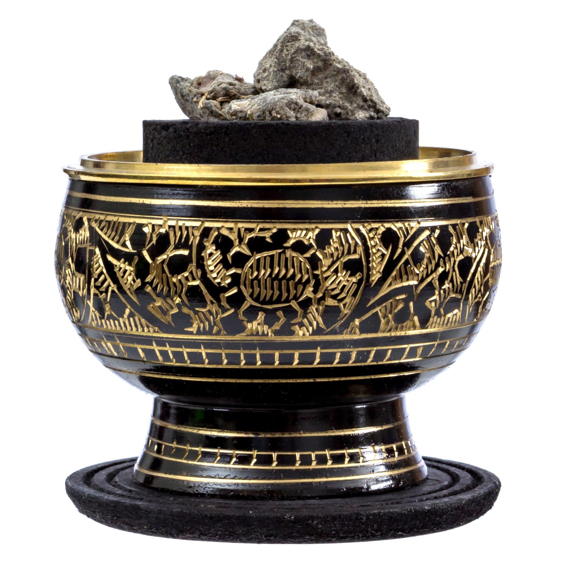 Alternative Imagination Palo Santo Resin Burning Kits (Black Brass Burner)