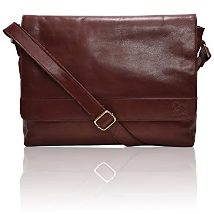 3555974df5 Leather Laptop Messenger Bag for men – Mens Office Briefcase Macbook  Satchel Professional Side bags for