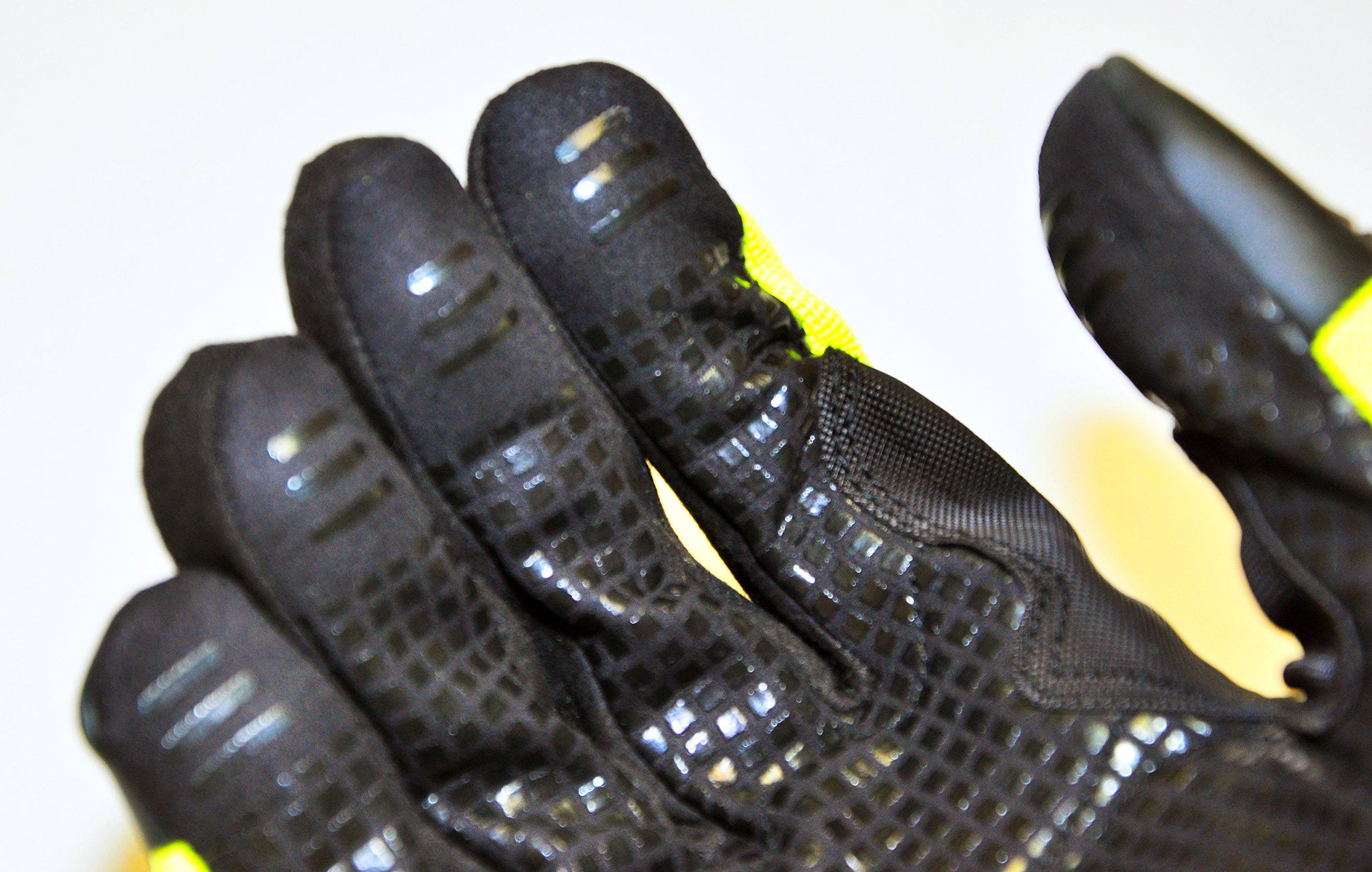 HAWK PRO PRO-0511XL Anti Slip Mechanics Glove, X-Large, Green by Hawk (Image #3)
