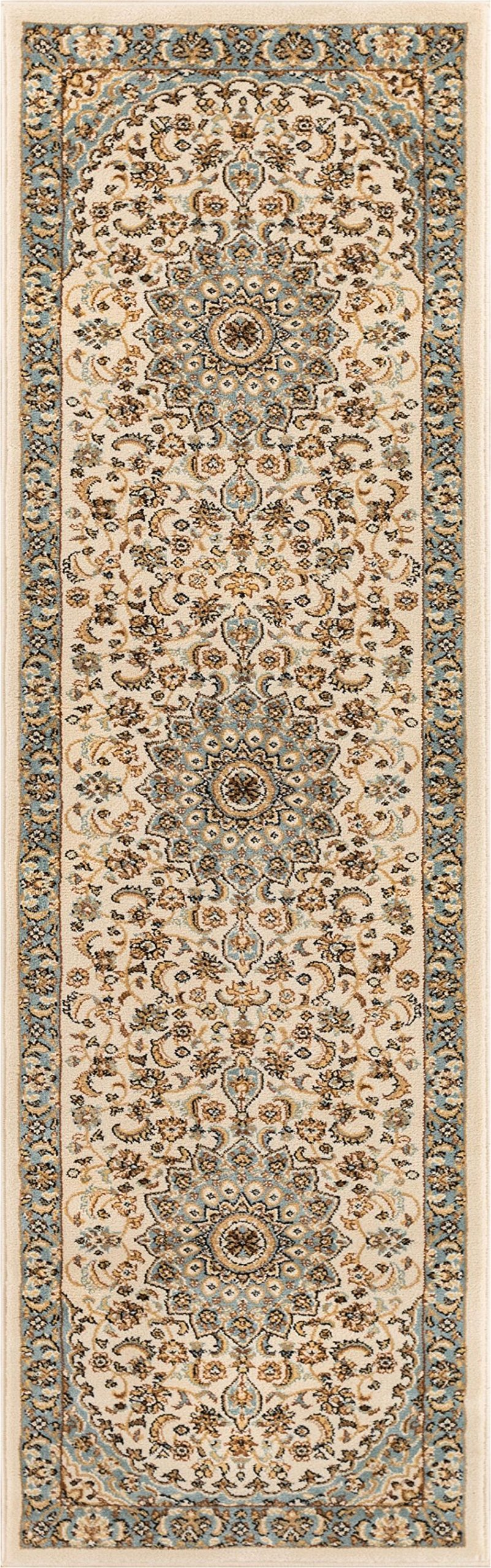 Well Woven 36422 Timeless Aviva Traditional French Country Oriental Rug x, 2'3'' x 7'3'' Runner, Ivory
