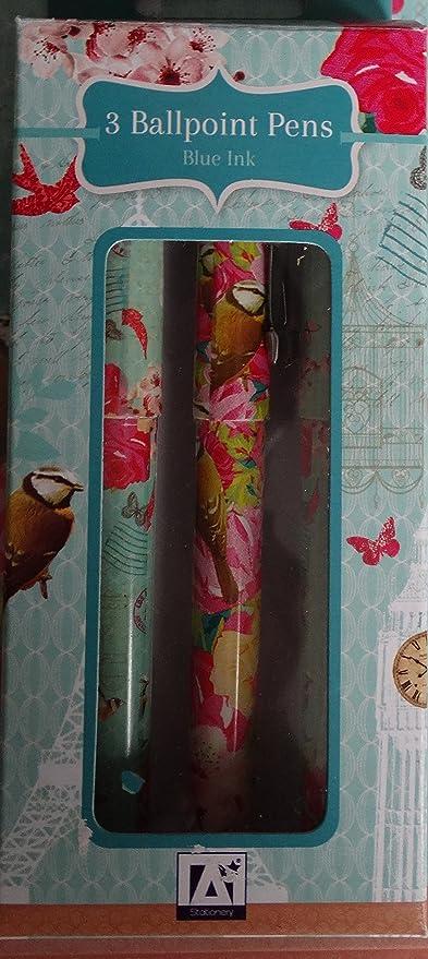 3 x Vintage mariposa bolígrafos jaula estilo Shabby Chic ...