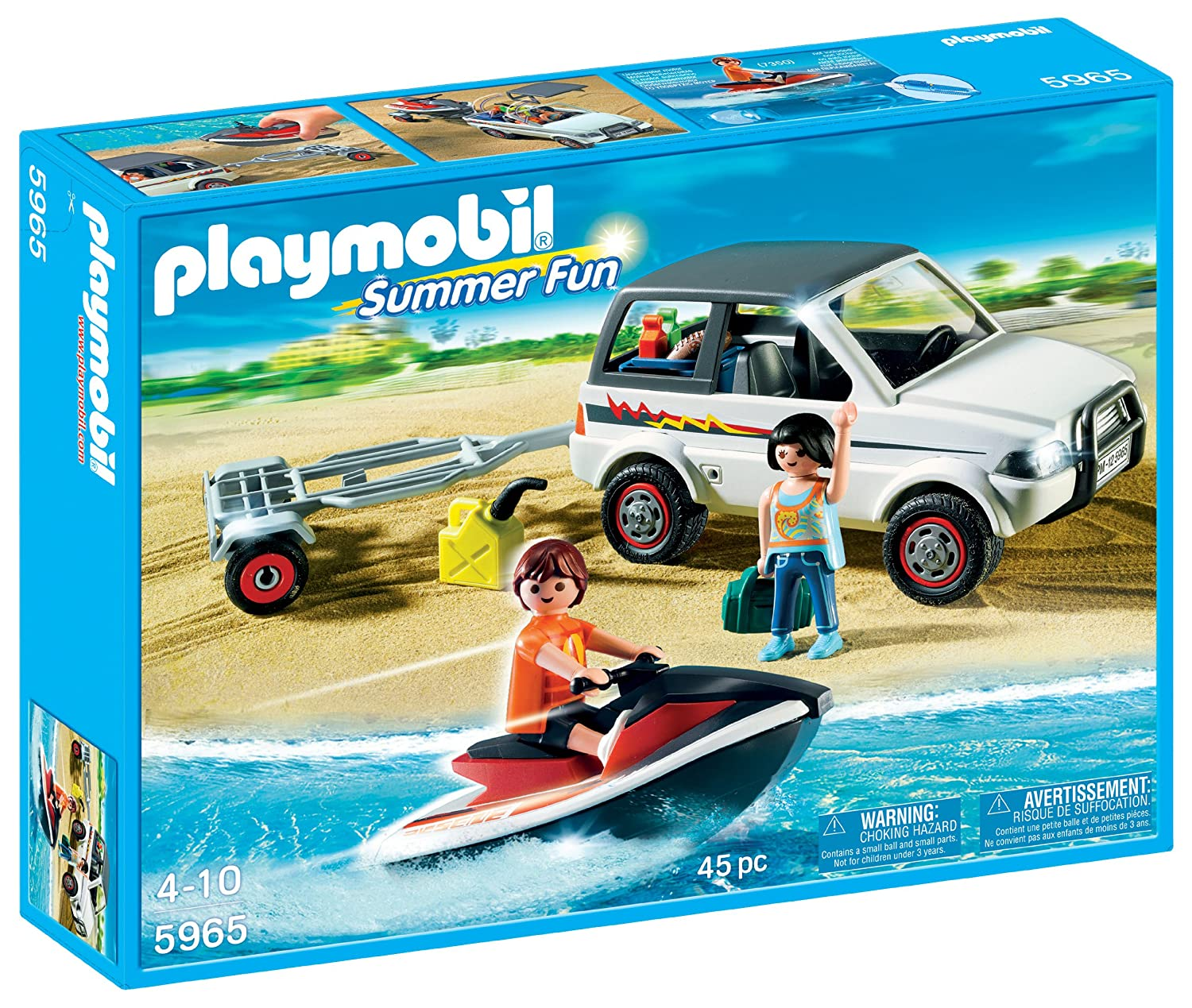 amazoncom playmobil family suv with personal watercraft toys games - Playmobil Ski