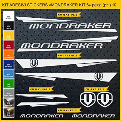 Kit Pegatinas Stickers Bicicleta MONDRAKER - Kit 6-10 Piezas- Bike Cycle Cod. 0886 (090 Argento): Amazon.es: Deportes y aire libre