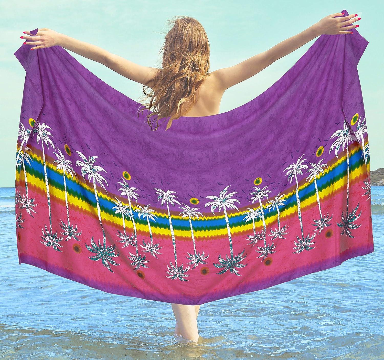 LA LEELA las Mujeres Traje de ba/ño Verano m/ás tama/ño Pareo Desgaste Cubre Sube la Playa 78X42