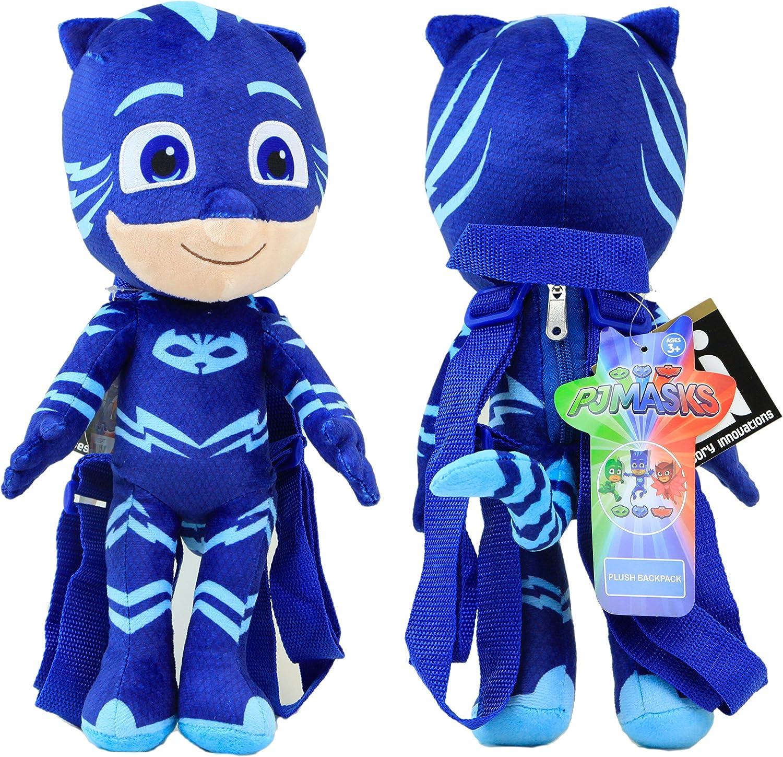 PJ Mascarilla de felpa mochila Catboy azul 15
