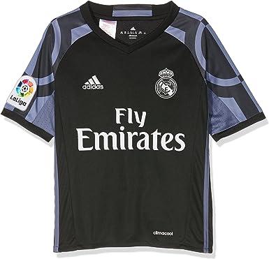 adidas Real Madrid 3 JSY Y - Camiseta 3ª Equipación Real Madrid CF 2015/2016 Niños: Amazon.es: Deportes y aire libre