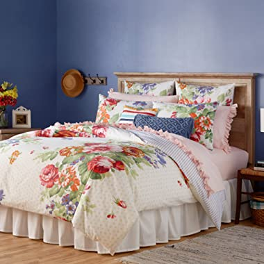 The Pioneer Woman Beautiful Bouquet Comforter White Full Queen King Sizes (King 106  x 94 )