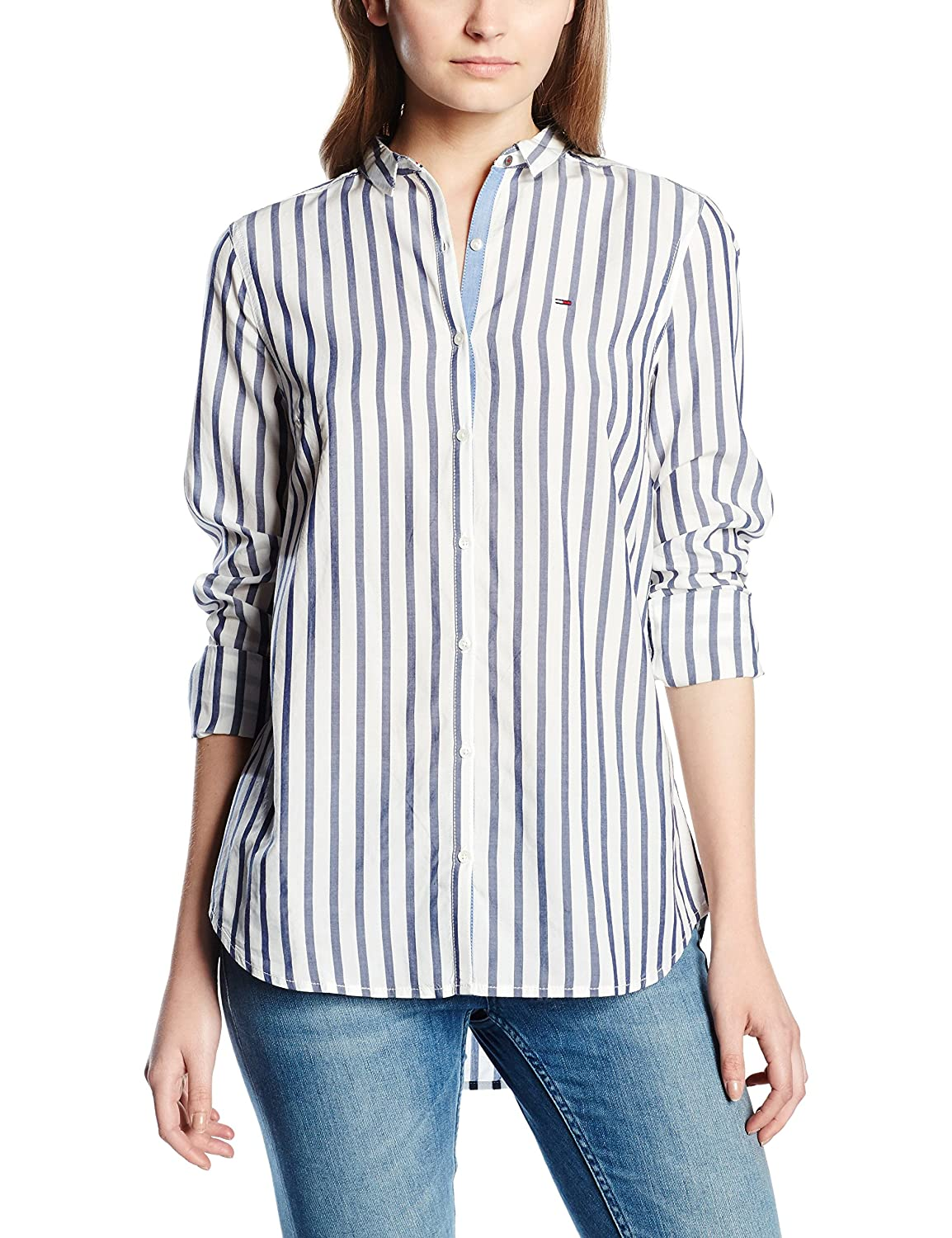 Hilfiger Denim Damen Bluse Thdw Basic Stripe Shirt L/s 11