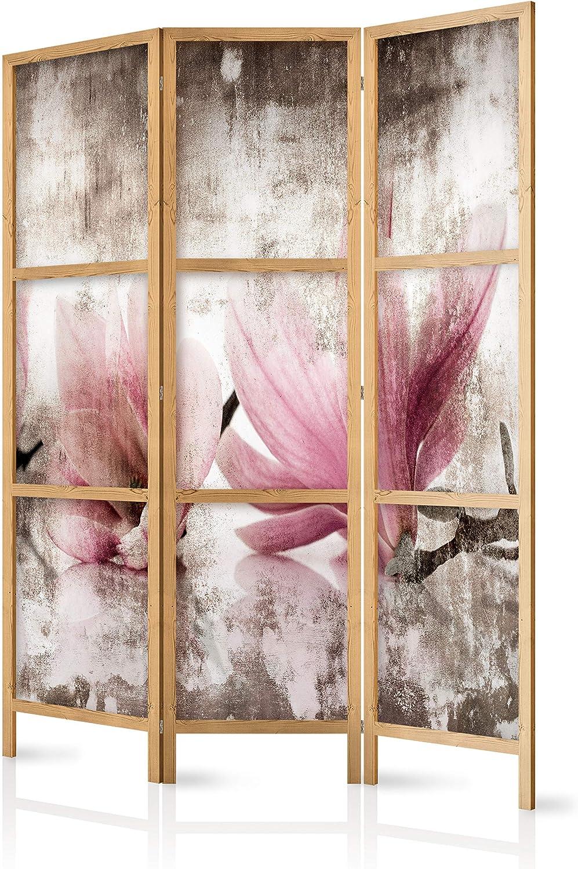 murando - Biombo Flores Magnolia 135x171 cm - 3 Paneles - Lienzo ...