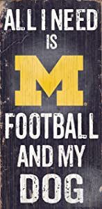 Fan Creations Dog Sign University of Michigan Football, Multicolored