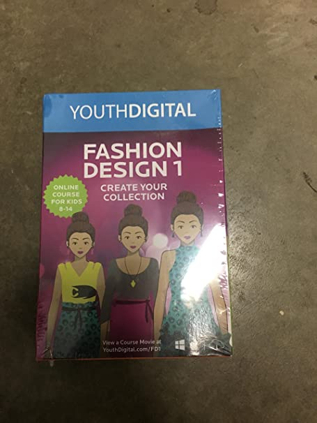 Amazon Com Fashion Design 1 Kids Ages 8 14 Learn To Design Illustrate Their Own Fashion Collection Pc Mac