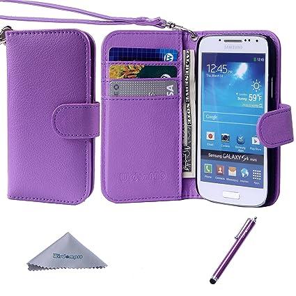 Amazon.com: S4 Mini Case, wisdompro Premium PU 2-en-1 [de ...