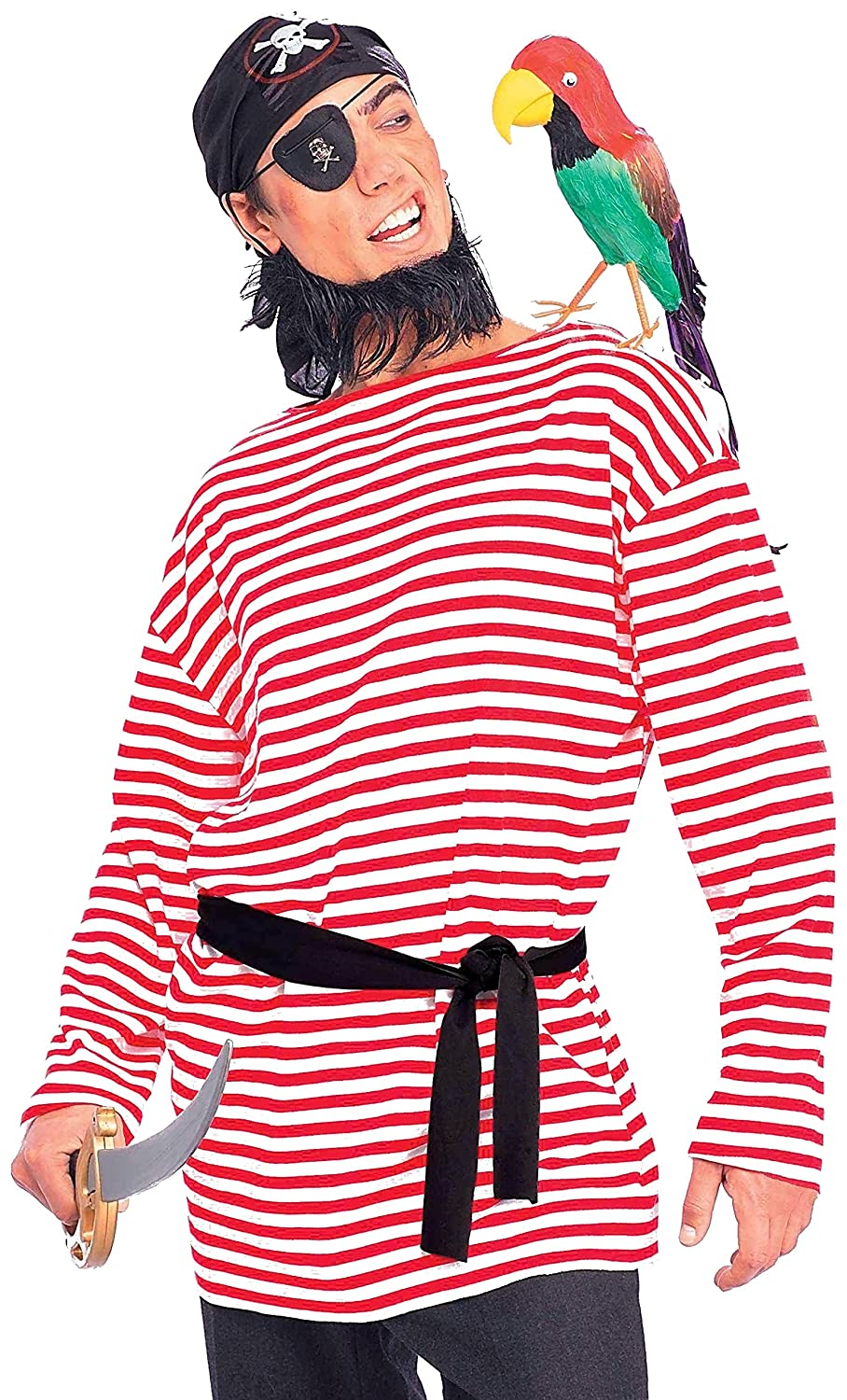 Men's Pirate Matie Red Striped Shirt