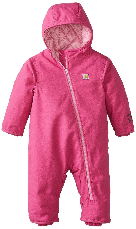 Carhartt baby-girls Baby Girls' Quick Duck Snowsuit Pink Thistle 18 Months CM9625