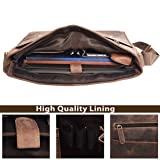 Genuine Leather Messenger Bag for Men and Women