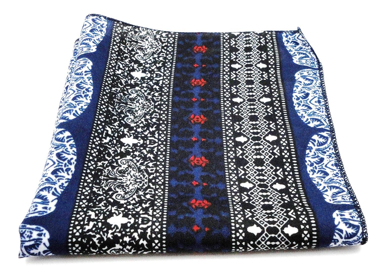 fd14cf6aa5072 Voici France - Premium Blue Self Design Pocket Square microfiber Men Satin  Wedding Handkerchief Pocket Square (1): Amazon.in: Clothing & Accessories