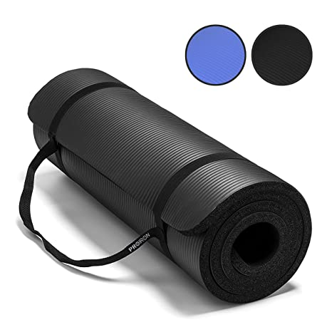 Umi. by Amazon - Colchonetas de Yoga Antideslizante Espesa para Pilates, Gimnasio Fitness or en Casa con Tirante