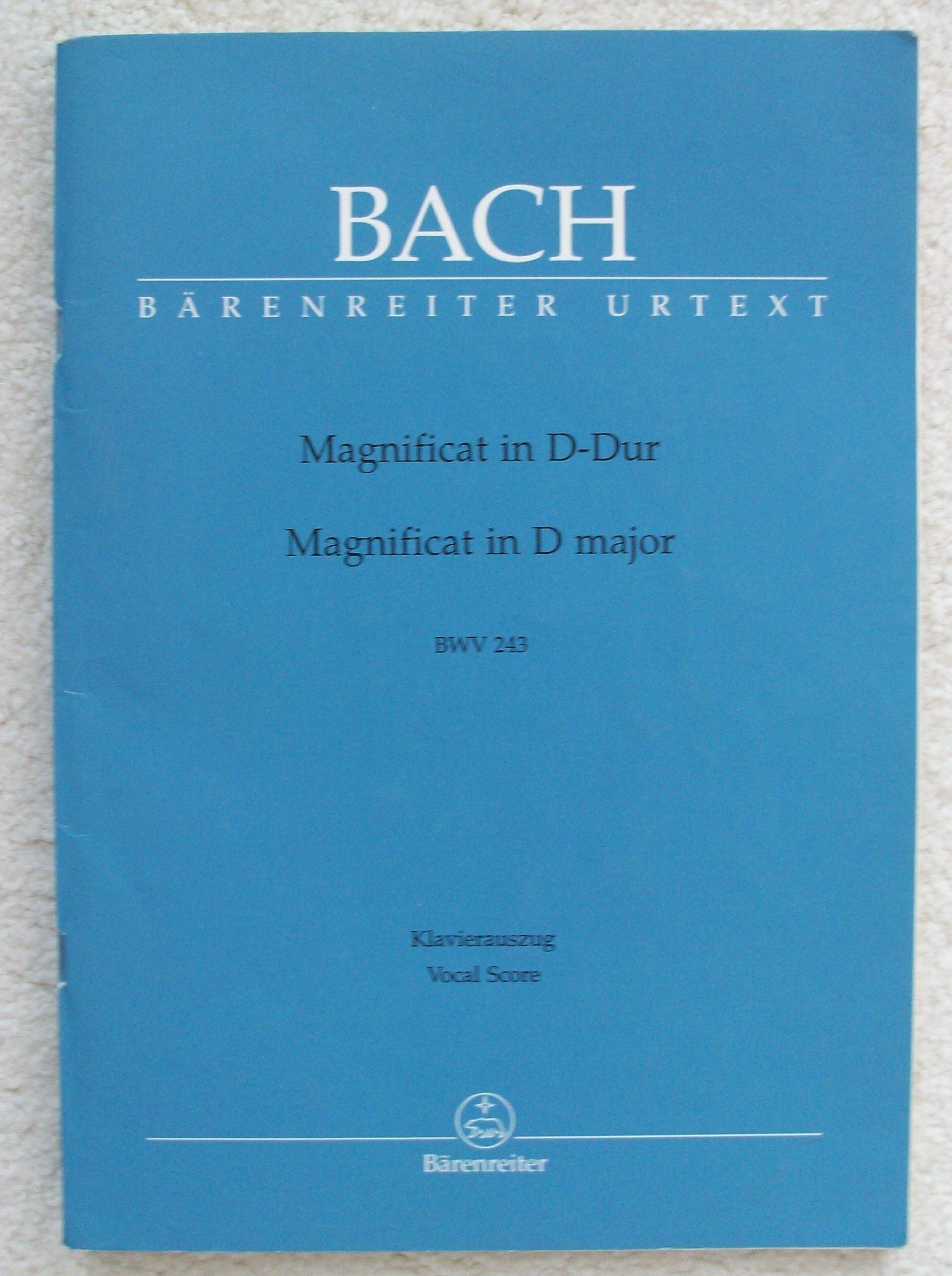 BACH MAGNIFICAT D BWV243 MULLER VOCAL SCORE Latin