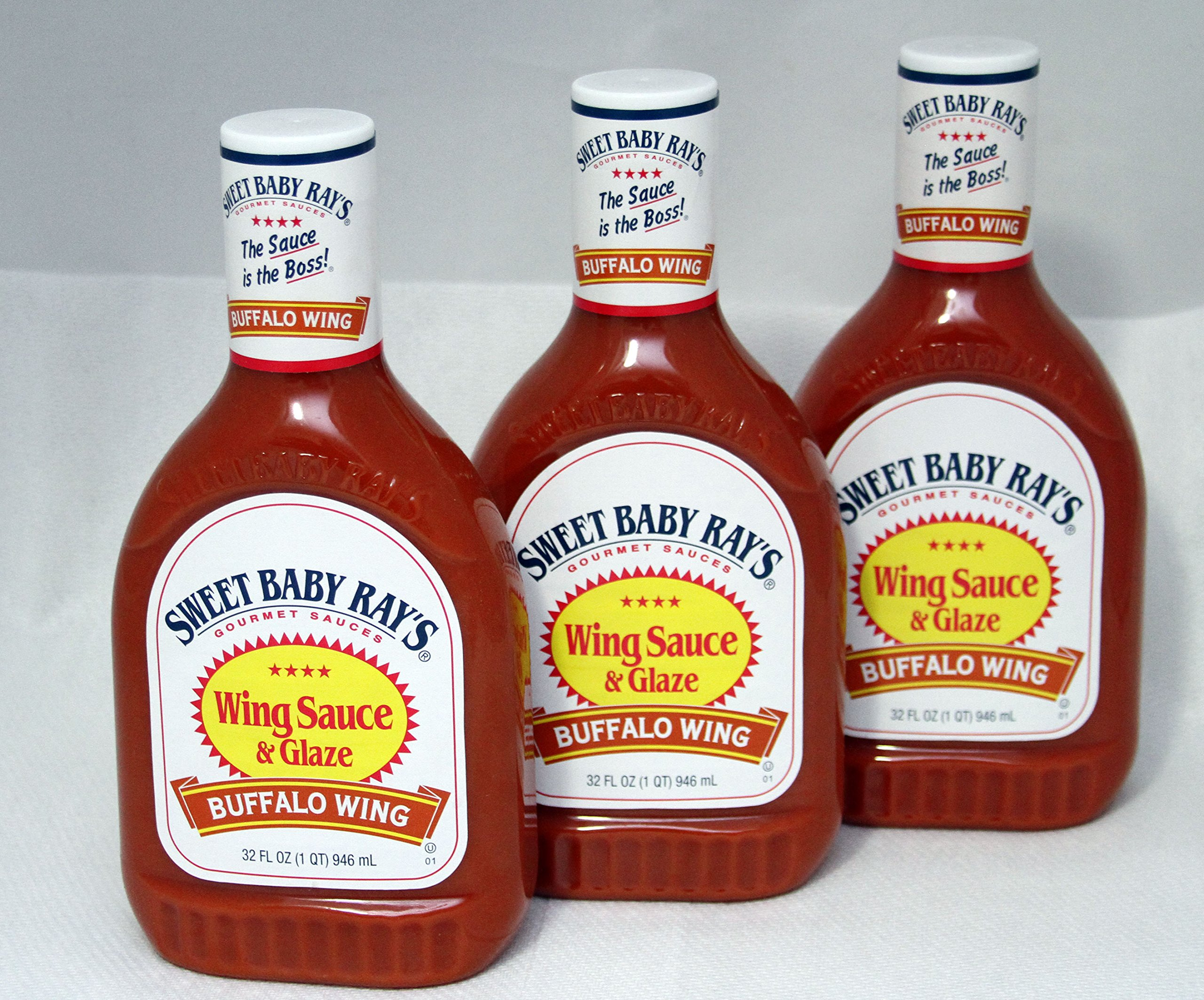 Sweet Baby Ray's Wing Sauce and Glaze, Buffalo Wing, 32 Fl-oz (Pack of 3)